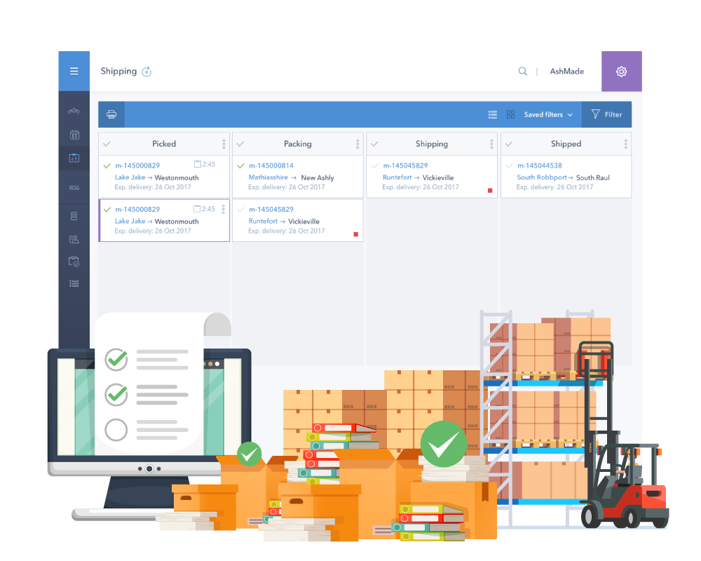 customizable shipping processes