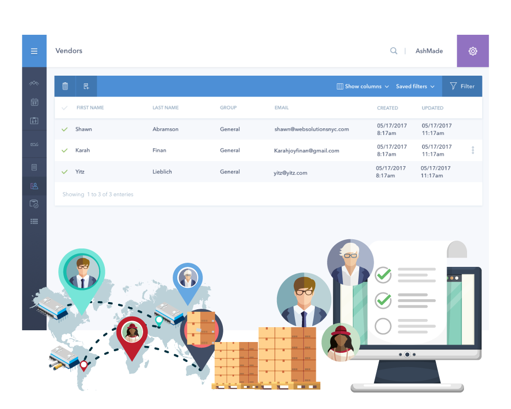 vendor centralized dashboard