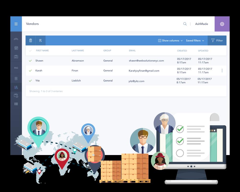 vendor centralized dashboard