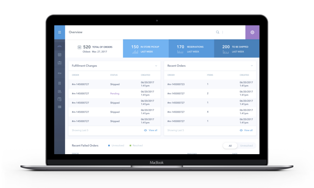 Fully customizable order management platform